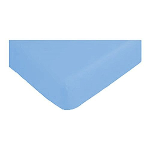 Discountseller Soft Touch coprimaterasso King, 50% cotone/50% poliestere/ in cotone/poliestere, Sky Blue, King