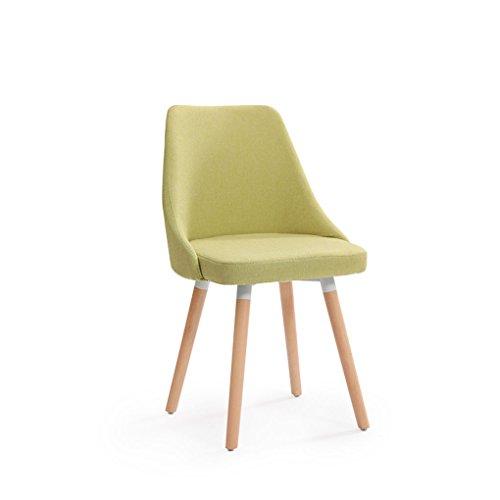 CQOZ Massivholz Stuhl Mode Nordeuropa Rückenlehne Esszimmerstuhl Haushalt Hocker Modernen minimalistischen Tuch Schreibtisch und Stuhl Restaurant Sofa Hocker (Farbe : #3) -
