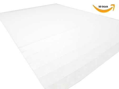 MADEIRA 50 Stück Stickvlies Zuschnitte Vlies 20cm x 20cm weiß 40g/m2 -