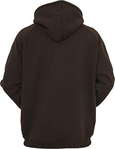 Urban Classics Sweatshirt, Hoodie Herren, Kapuzenpullover einfarbig (Pullover in vielen Farben erhältlich, ausgestattet mit Kapuze und Bauchtasche) Braun