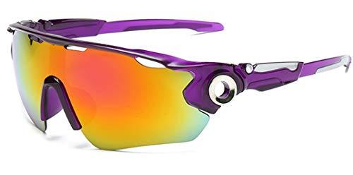 Flydo Gafas de Sol Deportivas, Unisex Gafas de Sol Deportivas Polarizadas de Cambios Antivaho Antireflejo Anti Viento y UV Adaptadas a Deporte Carrera Running Bicicleta MTB para Hombre y Mujer