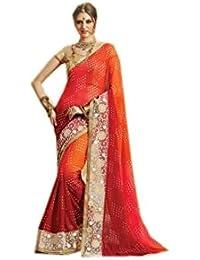 Mantra Fashions Women's Georgette Saree (Mant15_Multi)