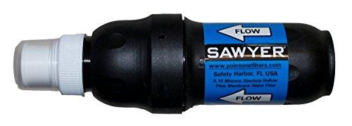SAWYER PointOne Squeeze Wasserfilter system mit einem faltbaren Trinkbeutel, Blau, 32 oz, SP129 - 5
