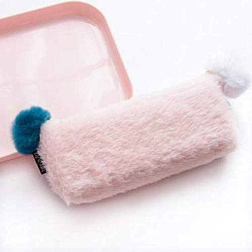HYZDR Pencil case Pink Solid Color Plush