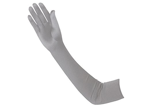 (Vijiv Damen 1920 Glove Opera Satin Lange 20s Gatsby Flapper Handschuhe 22