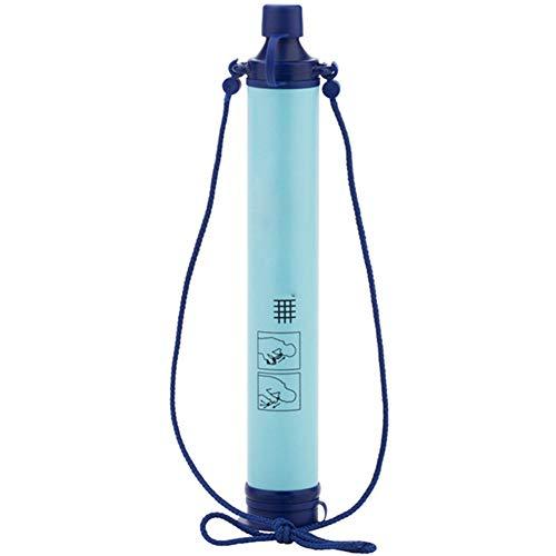 JIAX Persönlicher Wasserfilter, tragbare Outdoor-Ausrüstung aus Stroh, geeignet für Outdoor-Reisen zu Fuß Notfallabwehr (blau) - Tragbare Wasserfilter Lifestraw