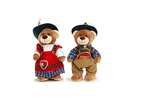 Bavaria Home Style Collection Trachten Bär - Teddy - Plüsch - Plüschtier - Stofftier - Kuscheltier - ideal ALS Geschenk (Pärchen)