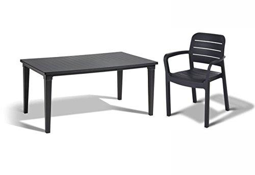 tepro Gartenmöbel-Set Futura und Tisara anthrazit