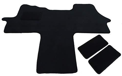 Mertex Automatte Autoteppich Bravo schwarz 1615-B-S (schwarz, Fahrerhausteppich mit 2 Einstiegsmatten)