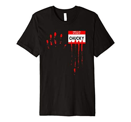 Herren Herren Hello My Name Is... Chucky Halloween Horror Tshirt (Chucky's Freundin Kostüm)