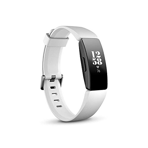 Fitbit Inspire HR - Monitores de Actividad, Adultos Unisex, Blanco/Negro, Talla única