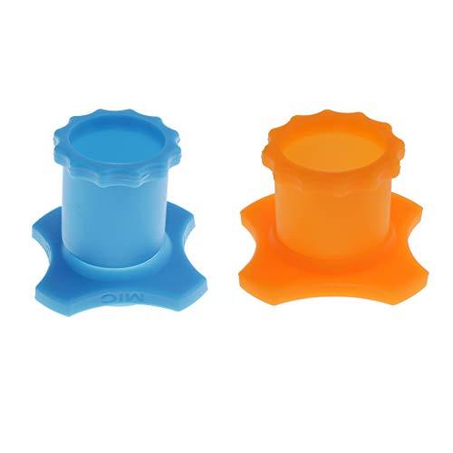 B Baosity Mikrofon Silikon Anti-rolling Protection Ring Wireless MIC Karaoke Mikrofonschutz, Blau + Orange, 4er Set