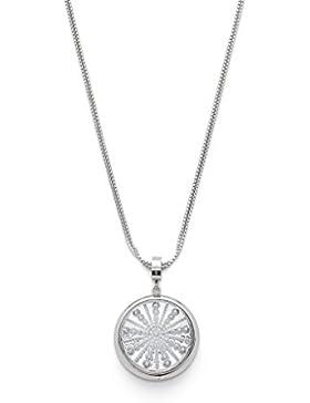 Leonardo Jewels Damen Halskette Scoppio Edelstahl Glas silber 85 cm 016379