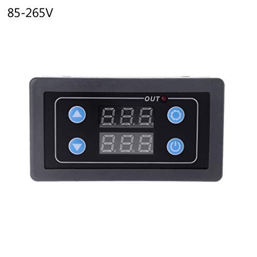 JENOR DC12V AC220V/855-265 V Digital Display Zeitrelais Modul Timer-Zyklus-Kontrollrelais Modul -