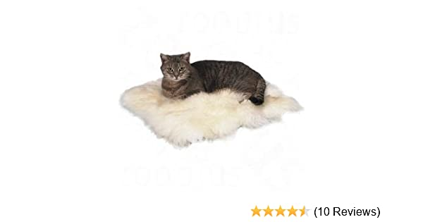 NaturaI Sheepskin With SMALL DEFECTS 100/% Sheepskin under the cat/'s dog
