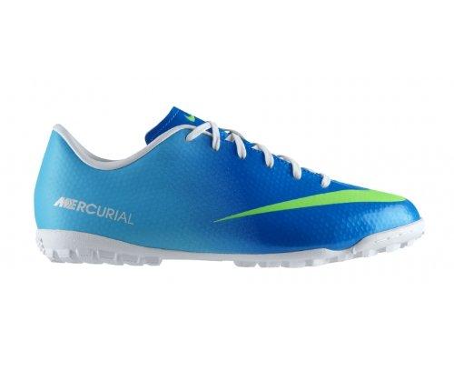 Nike JR Mercurial Victory TF Fußballschuhe Kinder blau