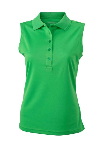 Ladies' Active Polo Sleeveless   green   L im digatex-package -