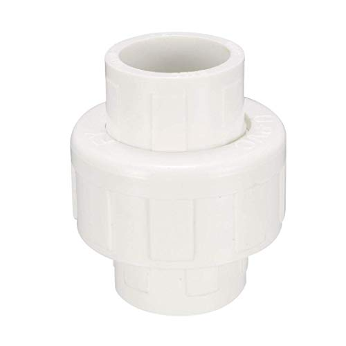 ZCHXD 20mm Slip x 20mm Slip PVC Pipe Fitting Union Solvent Socket Quick Connector -