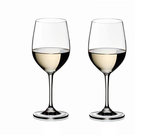 RIEDEL 6416/05 Vinum Viognier Chardonnay, 2-teiliges Weißweinglas Set, Kristallglas (Riedel Wein Gläser Bordeaux)