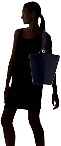 Chicca Borse Damen 8890 Schultertasche, 31x33x16 cm Blau (Blue)