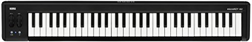 KORG microkey2– 61 Air 61 Key Bluetooth Wireless und USB MIDI-Controller – Schwarz