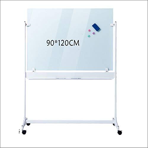 Dfghbn Cavalletto Lavagna Portable Magnetica Office Mobile White Board Dry Erase Board + 10 cancellabili Penne 1 Blackboard Eraser 3 Magnetica Fibbie Lavagna (Colore : Bianca, Dimensione : 90x120cm)