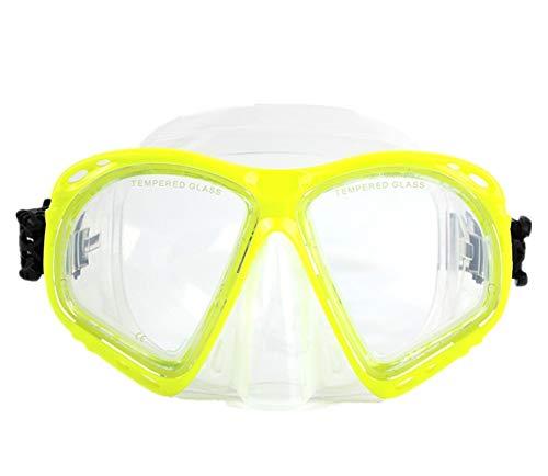 StrawBerrys Kurzsichtig Schnorchelmaske Taucherbrille Dioptrin Dioptrien Korrektur Tauchmaske für Erwachsene und Kinder mit Kurzsichtigkeit (N1, -3.5)