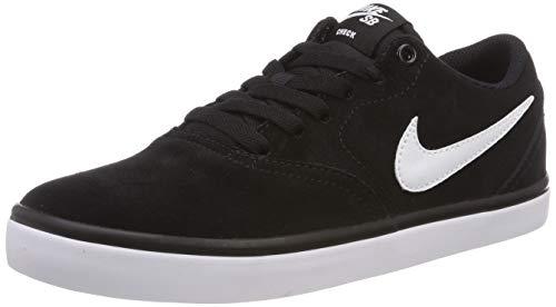 Nike Jungen SB Check Solarsoft Skateboardschuhe, Schwarz (Black/White 001), 36 EU (Nike-schuhe Skate Kinder)