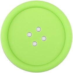 OPUSS Tee Cup Mats 【 Tee Cup Untersetzer 】 rutschfeste Silikon Button Drink Tisch-Sets Schöne Untersetzer Farben und Dämmmatten (5Farben), Silikon, grün, Normal