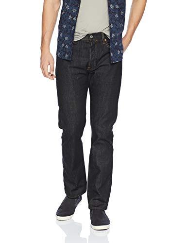Levi's 501 original straight fit, jeans uomo, nero (iconic black), w34/l34