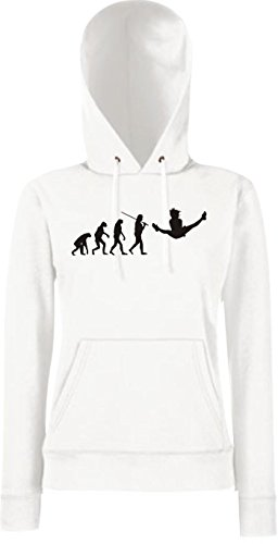 Ballett Nussknacker Kostüm Tanz - Krokodil Lady Kapuzensweatshirt Evolution Gymnastik Tanz Akrobatik Bodenturnen Ballet, Farbe: weiss, Größe M