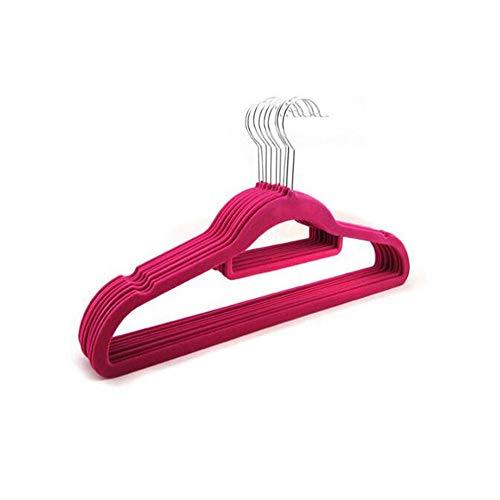 ZSDGY Cintre De Flocage Maison Adulte/Vêtements Magiques sans Couture Antidérapants Suspendus Cintre Double Velours 42cm (10pcs),Pink