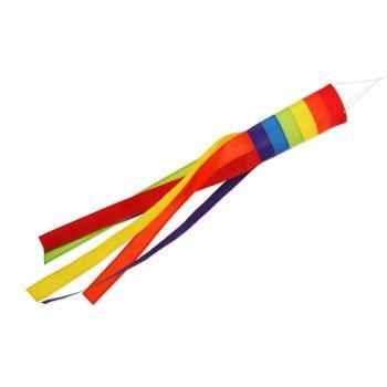 Windsack - 150 Rainbow - UV-beständig und wetterfest - Ø16cm, Länge: 150cm - inkl. Kugellagerwirbelclip (Rainbow)
