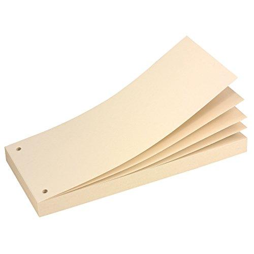 Herlitz Karton-Trennstreifenblock, Chamois, gelocht, geleimt, 70 Blatt, eingeschweißt, 10.5 x 24 cm