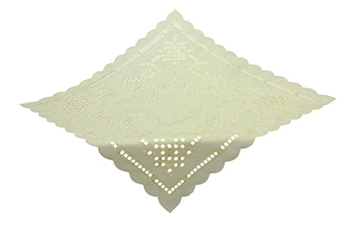 Bellanda 1825-110 x 110 x rectangulaire écru Nappe, Polyester, écru, 110 x 110 x 0,50 cm