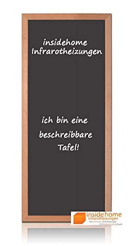 insidehome   Infrarotheizung Tafel CLASSIC   Vollholz - Rahmen Buche 30mm   hochwertige Glasheizung sandgestrahlt   deutscher Hersteller   900 Watt (140x60x2,5 cm)