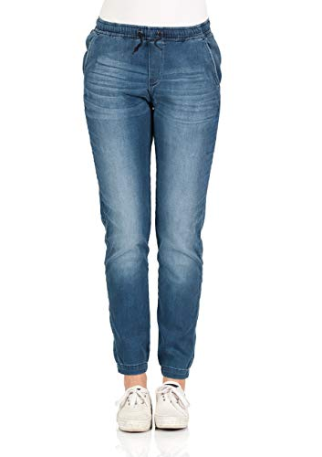 Lee Damen Jeans Sweatpants - Relaxed Fit - Blau - Rocky Blue, Größe:XS, Farbe:Rocky Blue (MD) - Lee Wrangler-jeans