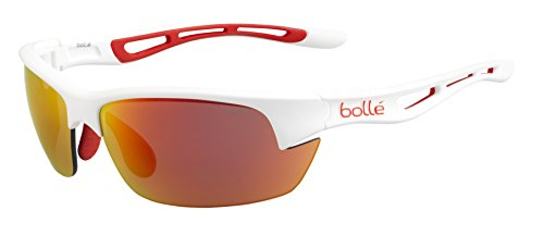 Bolle Bolt S Sonnenbrille, Matte White/Orange Rubber, S