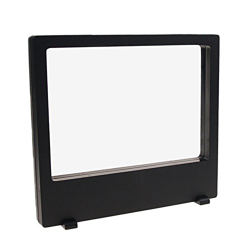Acryl Transparent 3D Floating Frame Display Ständer Halter für Münzen Medaillen Briefmarken Schmuck Home School Mall 200x180 MM Schwarz - Acryl Transparent Frame