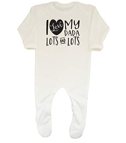 Shopagift Grenouillère pour bébé I Love My Dada Lots and Lots - Blanc - M