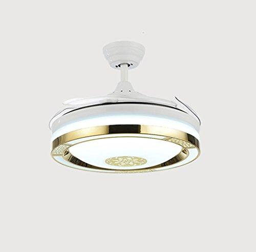 BAIF Kronleuchter Nordic Modern Minimalist Unsichtbarer Lüfter Kronleuchter LED Versenkbarer Essbereich Küche Schlafzimmer Kinderzimmer Kronleuchter -107cm (Farbe: 36W LED Weißlicht-Wandsteuerung -