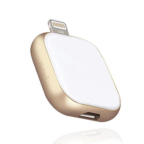 IPhone 64GB USB Stick Flash, Laufwerk Speicherplatz, U Disk Richwell 3in1 USB für IPhone Ipad Ipod Lightning Connector Mac, Windows - Pc, Android, Ios, Externe Speicher - Stick Expansion(Gold64g).
