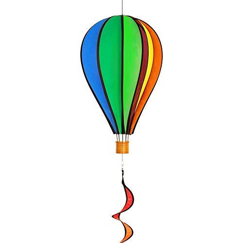 IMC Networks Eolienne - Satorn Balloon Rainbow Twist - résiste aux intempéries - Ballon: Ø 28 cm, Haute 48 cm, Spirale: Ø 10 cm, Haute 75 cm - Inclus système de Suspension Rotatif