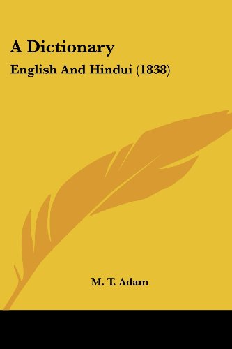A Dictionary: English and Hindui (1838)