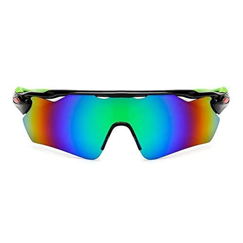 ZKAMUYLC SonnenbrillePC explosionsgeschützte polarisierte Sonnenbrille Visier reflektierende Radfahren Sonnenbrille Goggles Reiten Fahrrad Sonnenbrille für Outdoor-Sportarten