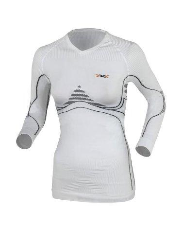 X-Bionic Erwachsene Funktionsbekleidung Lady EN Accumulator UW Shirt LG SL, White/Anthracite, XS, I020094