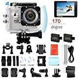 PINGKO Action Camera F71,WiFi Full HD Sport Action Camera 1080P 30fps 12MP 2.0' Schermo LCD Lente...