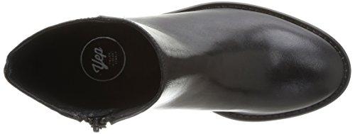 Yep Alix 1073, Boots fille Noir (Cuir/Glitter Noir)