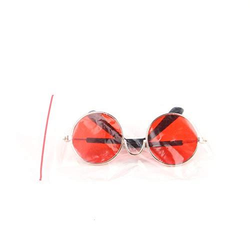 KOMNY Haustier Pitbull Hund Katze Welpen Sonnenbrillen Brille Kostüm Party Supplies Geburtstagsgeschenke Hunde Haustiere Zubehör Dekoration Thanksgiving, J