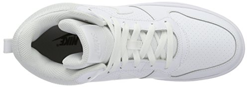 Nike Herren Court Borough Mid Basketballschuhe Blanco (White / White-White)